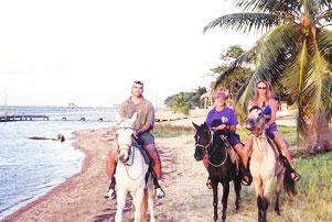 Scuba-Explorers-Leslie-ONeill-Riding-Horseback-Roatan,Honduras